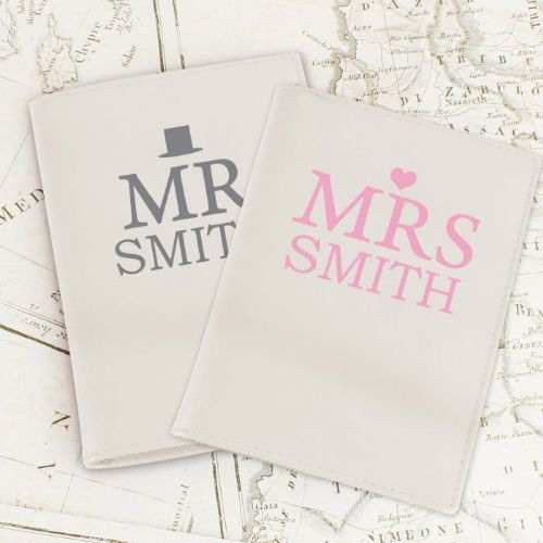 Personalised Mr & Mrs Wedding Passport Holders